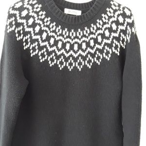 Cotton/Angora/Cashmere Black Sweater